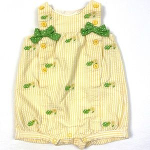 Gymboree Seersucker Yellow&White Turtle One Piece